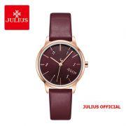 Đồng hồ nữ Julius JA-1253 dây da đỏ  - Size 30