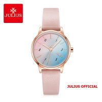 Đồng hồ nữ Julius JA-1253 dây da hồng - Size 30