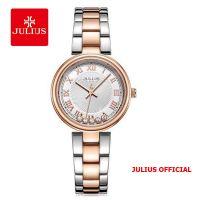 Đồng hồ nữ Julius JA-1236 dây thép bạc đồng - Size 32