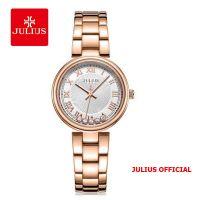 Đồng hồ nữ Julius JA-1236 dây thép vàng đồng - Size 32