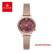 Đồng hồ nữ Julius JA-1249 dây da xanh - Size 25