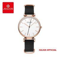 Đồng hồ nữ Julius JA-1245 dây vải đen - Size 34
