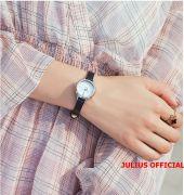 Đồng hồ nữ JULIUS JA-979 dây da đen - Size 23
