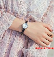 Đồng hồ nữ JULIUS JA-979 dây da đen - Size 24