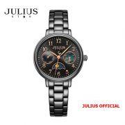 Đồng hồ nữ Julius Star JS-047 dây thép đen kính Sapphie - Size 24