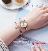Đồng hồ nữ Julius JA-1228 dây dây thép vàng đồng - Size 30
