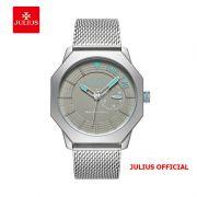 Đồng hồ nam Julius JAH-126 dây thép bạc - Size 40