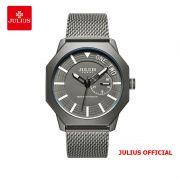 Đồng hồ nam Julius JAH-126 dây thép xám - Size 40
