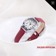 Đồng hồ nữ Julius JA-544 dây da đỏ - Size 22