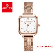 Đồng hồ nữ Julius JA-1264 dây thép vàng đồng