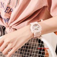 Đồng hồ thể thao Julius JA-1276 dây silicon hồng nhạt