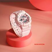 Đồng hồ thể thao Julius JA-1276 dây silicon hồng đậm