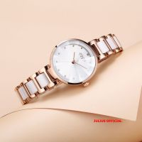 Đồng hồ nữ Julius JA-1209 dây thép mặt trắng