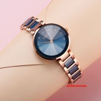 Đồng hồ nữ Julius JA1209 dây thép xanh - Size 30