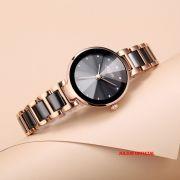 Đồng hồ nữ Julius JA1209 dây thép mặt đen - Size 30