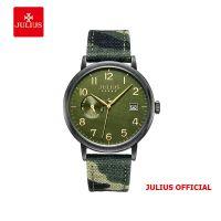Đồng hồ nam Julius JAH-125 dây da rêu - Size 40