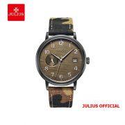 Đồng hồ nam Julius JAH-125 dây da nâu - Size 40