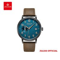 Đồng hồ nam Julius JAH-125 dây da xám  - Size 40