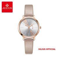Đồng hồ nữ Julius JA-1259 dây da tím nhạt - SIze 29