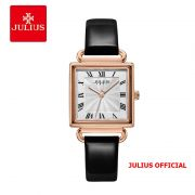 Đồng hồ nữ Julius JA-1266 dây da đen - SIze 27