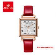 Đồng hồ nữ Julius JA-1266 dây da đỏ - SIze 27