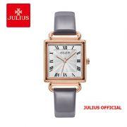 Đồng hồ nữ Julius JA-1266 dây da xám - SIze 27