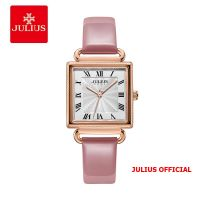Đồng hồ nữ Julius JA-1266 dây da hồng - SIze 27