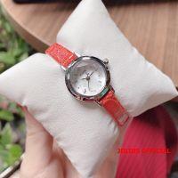 Đồng hồ nữ Julius JA-482 dây da đỏ cam - Size 20