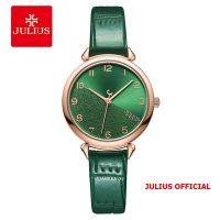 Đồng hồ nữ Julius JA-1274 dây da xanh lá - Size 29