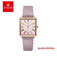 Đồng hồ nữ Julius JA-1269 dây da hồng - Size