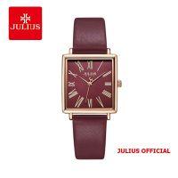 Đồng hồ nữ Julius JA-1269 dây da tím - Size 27