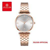 Đồng hồ nữ JULIUS JA-1260 dây thép vàng đồng - Size