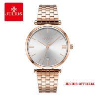 Đồng hồ nam Julius JA-1260 dây thép vàng đồng - Size 39