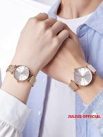 Đồng hồ cặp Julius JA-1260 dây thép vàng đồng