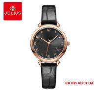 Đồng hồ nữ Julius JA-1274 dây da đen - Size 29