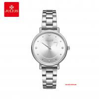 Đồng hồ nữ Julius JA-1248 dây thép bạc - Size 33