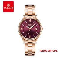 Đồng hồ nữ Julius JA-1218 dây thép vàng đồng - Size 34