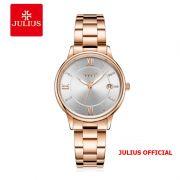 Đồng hồ nữ Julius JA-1218 dây thép vàng đồng - Size