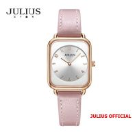 Đồng hồ nữ Julius Star JS-050 dây da hồng kính Sapphie - Size 26