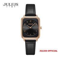 Đồng hồ nữ Julius Star JS-050 dây da đen kính Sapphie - Size 26