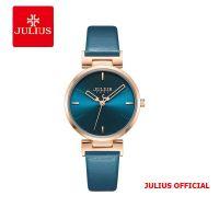 Đồng hồ nữ JULIUS JA-1271 dây da xanh- Size 30