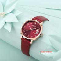 Đồng hồ nữ JULIUS JA-1211 dây da đỏ - Size 30