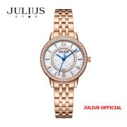 Đồng hồ nữ Julius Star JS-051 dây thép vàng đồng kính Sapphie - Size 32