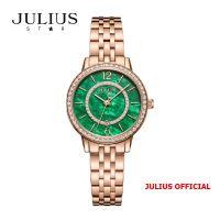 Đồng hồ nữ Julius Star JS-051 dây thép vàng đồng mặt xanh kính Sapphie - Size 32