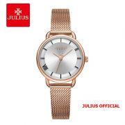 Đồng hồ nữ Julius JA-1268 dây thép vàng đồng - Size 28