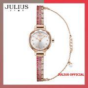 Đồng hồ nữ Julius Star JS-035 dây thép vàng đồng kính sapphire - Size 20