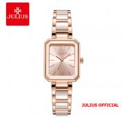 Đồng hồ nữ Julius JA-1273 dây thép vàng hồng & Ceramic - Size 28