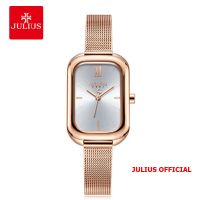 Đồng hồ nữ Julius JA-1281 dây thép mặt trắng - Size 33