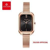 Đồng hồ nữ Julius JA-1281 dây thép mặt đen size 33 | Julius Official