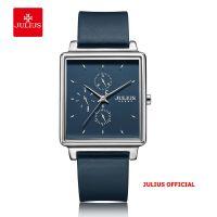 Đồng hồ nam Julius JAh-129 dây da xanh | Size 38